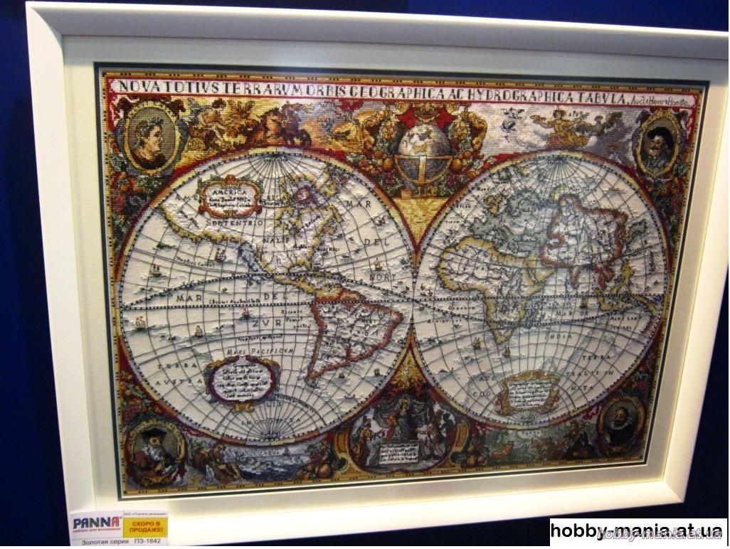 Географическая карта мира панна схема вышивки